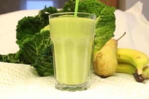 Food – grüner Smoothie mit Wirsing